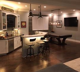 Home Renovations & Remodels: Clarkston, MI | Post Construction - basement-refinishing